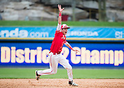Holy Redeemer&rsquo;s Tucker Ell celebrates as the Royals get the final out to defeat Lakeland to win the PIAA District 2 Class 3A baseball district championship at PNC Field in Moosic on Monday, May 29, 2017.<br />