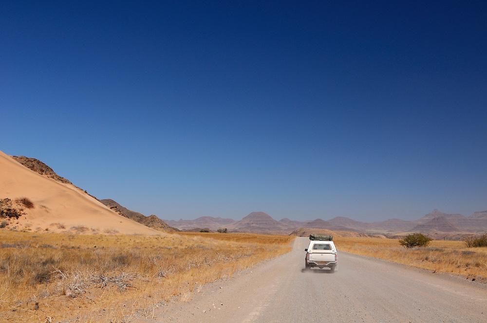 Gravel road near Palmwag, Kaokoland, Kunene Region, Namibia...