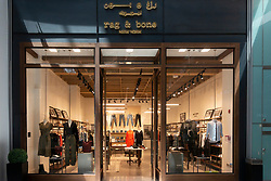 Rag and Bone boutique inside Dubai Mall, UAE