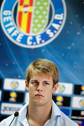 06.07.2011, Getafe, ESP, Primera Division, FC Getafe, Spielerpräsentation, im Bild Getafe's new player Michelangelo Albertazzi during his official presentation. July 6, 2011. EXPA Pictures © 2011, PhotoCredit: EXPA/ Alterphotos/ Acero +++++ ATTENTION - OUT OF SPAIN / ESP +++++