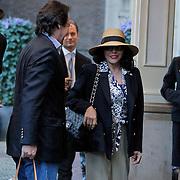 NLD/Amsterdam/20120419 - Joan Collins in Amsterdam, met partner Percy Gibson