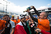 May 25-29, 2016: Monaco Grand Prix. Sergio Perez (MEX), Force India celebrates