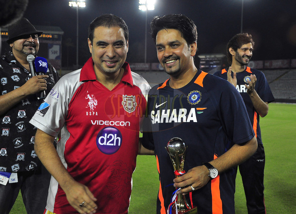 Anurag of ipl  recevied his best batsman award  during match 33 of the the Indian Premier League ( IPL) 2012  between The Kings X1 Punjab and The Mumbai Indians held at the Punjab Cricket Association Stadium, Mohali on the 25th April 2012..Photo by Arjun Panwar/IPL/SPORTZPICS
