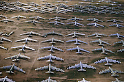 Military Air storage. Tucson, Arizona. The Boeing (formerly Rockwell) B-1B Lancer is a long-range strategic bomber in service with the United States Air Force (USAF). Together with the B-52 Strato-fortress and the B-2 Spirit, it is the backbone of the United States' long-range bomber force.