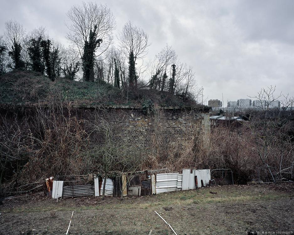 Aubervilliers (Seine-saint-Denis), 2012. Vue sur le fort d'aubervilliers.