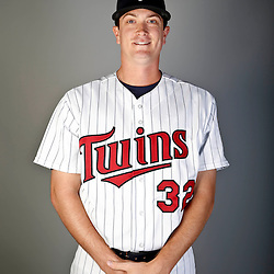 Feb 19, 2013; Fort Myers, FL, USA; Minnesota Twins starting pitcher Kyle Gibson (32) poses for a portrait during photo day at Hammond Stadium. Mandatory Credit: Derick E. Hingle-USA TODAY Sports