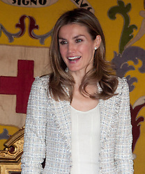 Red Cross Day. Day of the flag. Princess of Asturias, Letizia. Queen Sofia, Felipe and Letizia, Madrid, Spain, October 10, 2012. Photo by Belen D. Alonso / DyD Fotografos / i-Images...SPAIN OUT.UK ONLY