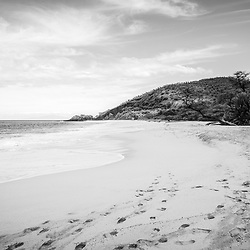 Makena Big Beach Maui Hawaii black and white photo. Big Beach is in Wailea-Makena Kihei Hawaii and is one of Maui's most popular beaches. Copyright ⓒ 2019 Paul Velgos with All Rights Reserved.