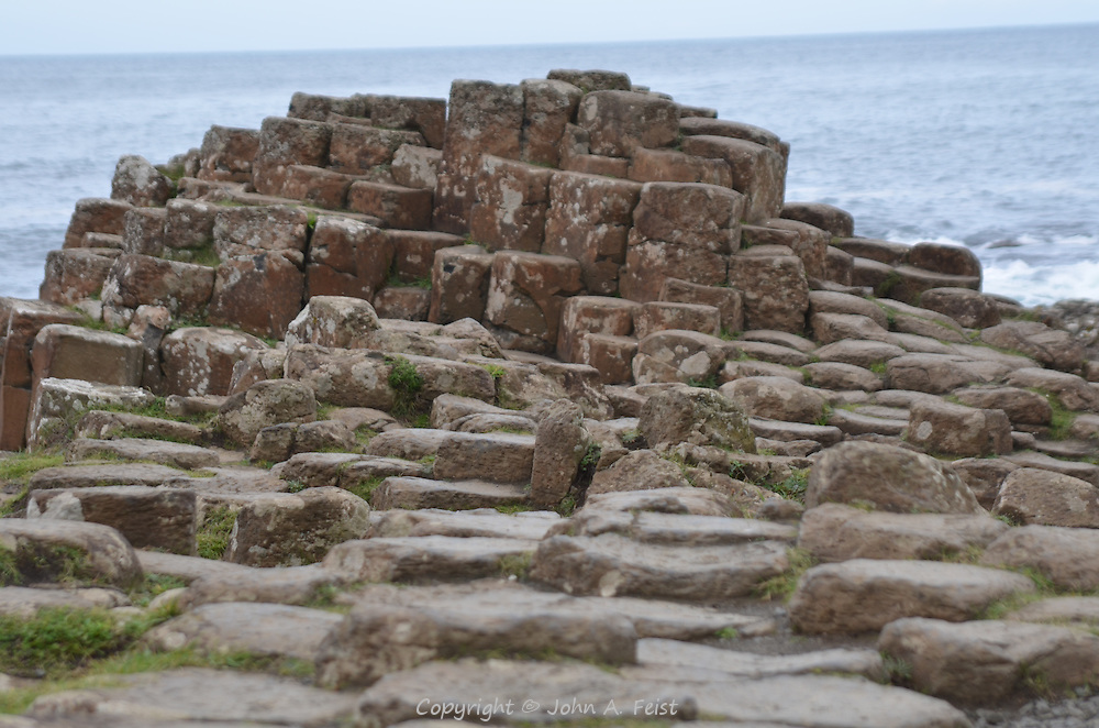 The road rising on its way to Scotland. Giant's Causeway, County Antrim, Northern Ireland