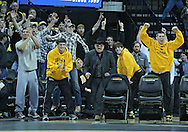 January 07, 2011: Iowa fans cheer during the 133-pound bout in the NCAA wrestling dual between the Oklahoma State Cowboys and the Iowa Hawkeyes at Carver-Hawkeye Arena in Iowa City, Iowa on Saturday, January 7, 2012. Ramos won 4-3.
