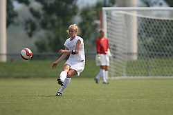 Virginia Cavaliers D/M Becky Sauerbrunn (11)..The Virginia Cavaliers Women's Soccer Team fell to Seton Hall University 1-0 on September 10, 2006 at Klöckner Stadium in Charlottesville, VA...
