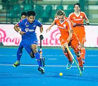 LUCKNOW (India) -   Junior World Cup hockey  U21 for men .  Netherlands v Malaysia (7-2).  Noud Schoenaker (NED) .   COPYRIGHT  KOEN SUYK