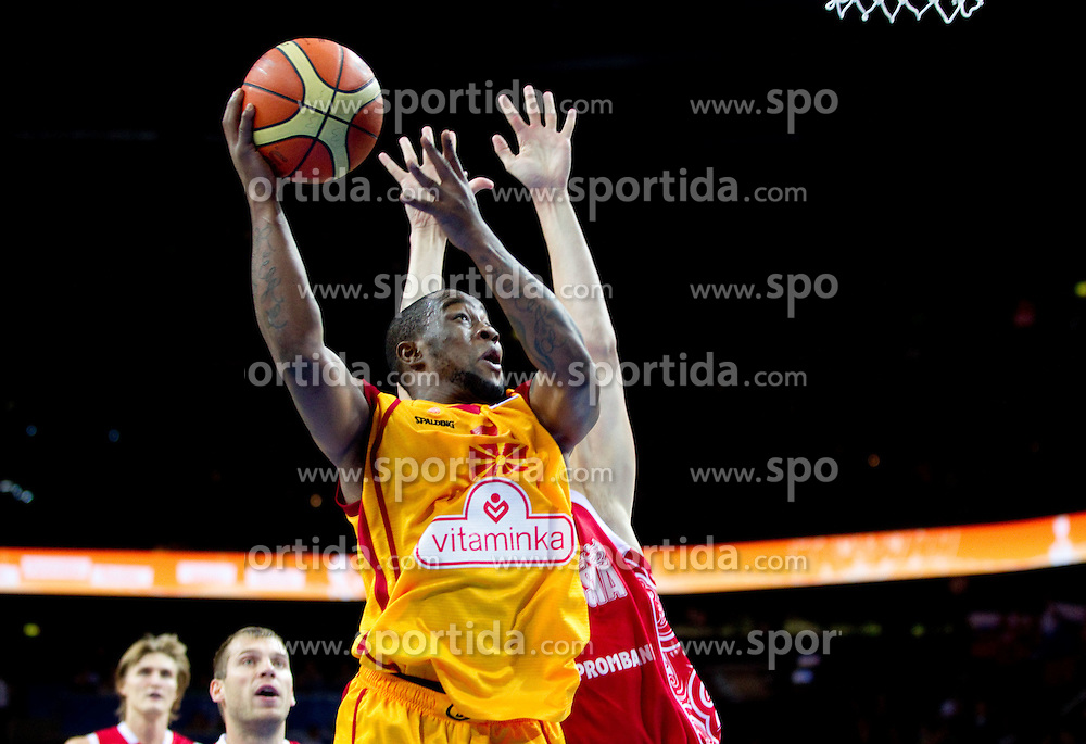 Bo McCalebb of Macedonia during basketball game between National basketball teams of F.Y.R. of Macedonia and Russia of 3rd place game of FIBA Europe Eurobasket Lithuania 2011, on September 18, 2011, in Arena Zalgirio, Kaunas, Lithuania. (Photo by Vid Ponikvar / Sportida)