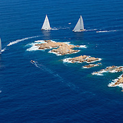 September 1st 2014- The JClass fleet during the Maxi Yacht Rolex Cup in Porto Cervo