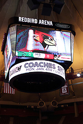 21 December 2015:  New Scoreboard in Redbird Arena installed in December 2015.  Illinois State University Women's Basketball team hosted The Cougars of Chicago State at Redbird Arena in Normal Illinois.