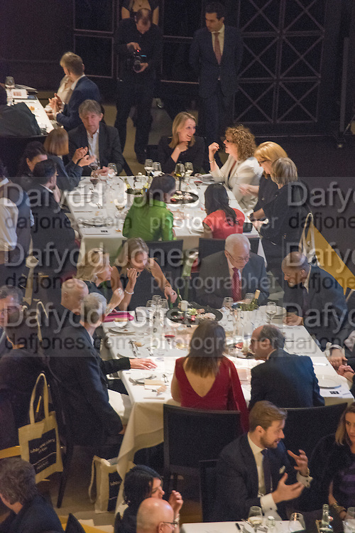 Whitechapel Gallery Art Icon 2015 Gala dinner supported by the Swarovski Foundation. The Banking Hall, Cornhill, London. 19 March 2015
