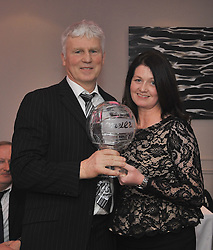 Kilmeena Gaa Club celebration night Michael Gavin accecpted the Clubman of the Year Award from Diane Mullin which was sponsored by Midwest Furniture. <br />Pic Conor McKeown