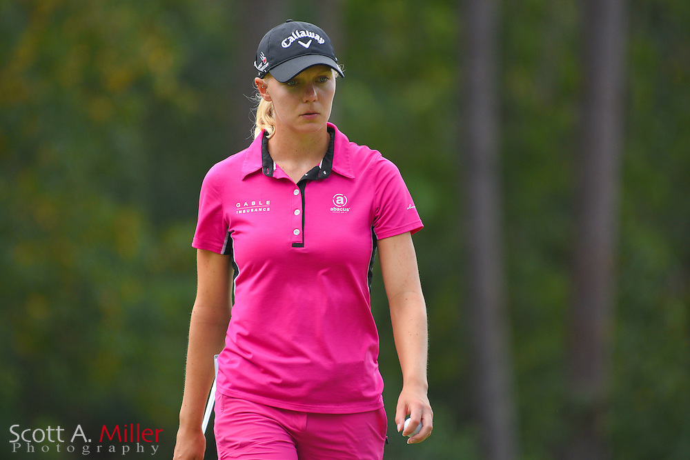 Madelene Sagstrom during the third round of the Symetra Tour Championship at Alaqua Country Club in Longwood, Florida on Oct. 15, 2016 .<br /> <br /> &copy;2016 Scott A. Miller