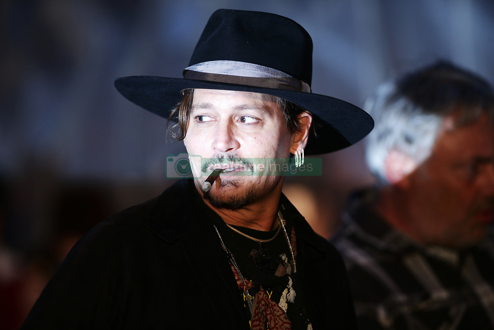 Johnny Depp at a screening of The Libertine, during the Glastonbury Festival at Worthy Farm in Pilton, Somerset.