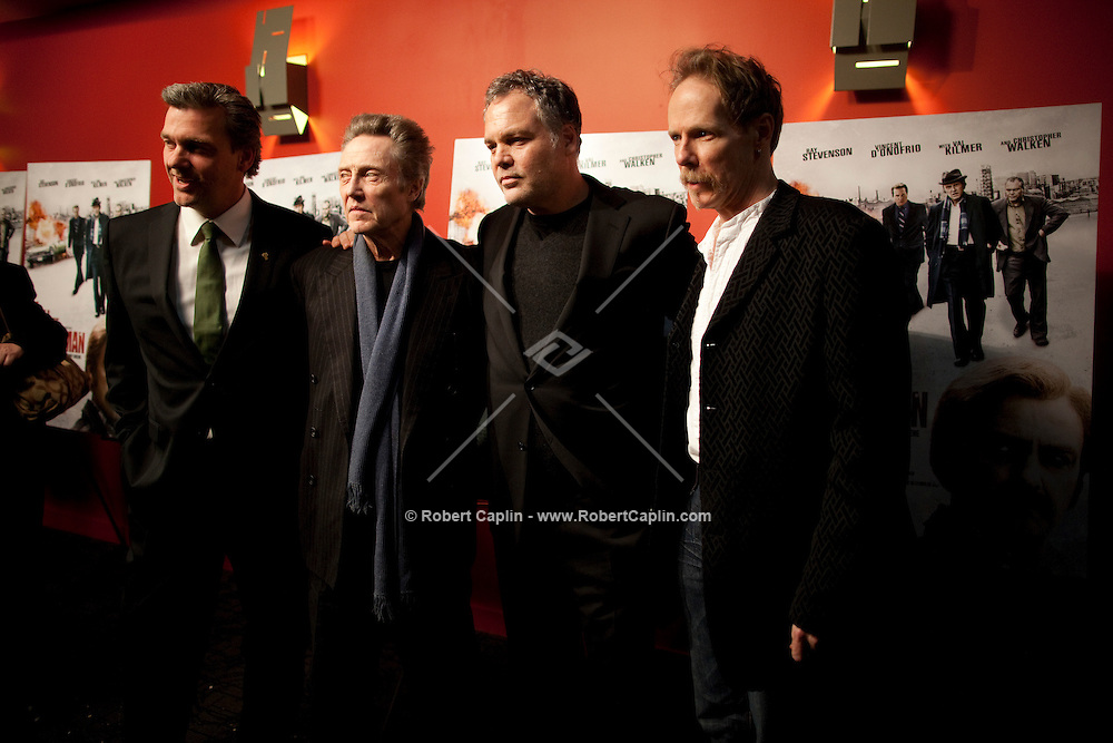 Ray Stevenson, Christopher Walken, Vincent D'Onofrio, and Jonathan Hensleigh at the premiere of Kill the Irishman in New York. ..Photo by Robert Caplin