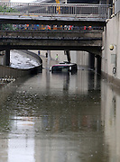 XI\'AN, CHINA - AUGUST 12: (CHINA OUT) <br /> <br /> Bus Gets Submerged In Water At Tunnel <br /> <br /> A bus gets submerged in water on August 12, 2014 in Xi\'an, Shaanxi province of China. Torrential rains hit Xi\'an, which caused more and more standing waters on Xi\'an, Shaanxi province of China.<br /> ©Exclusivepix