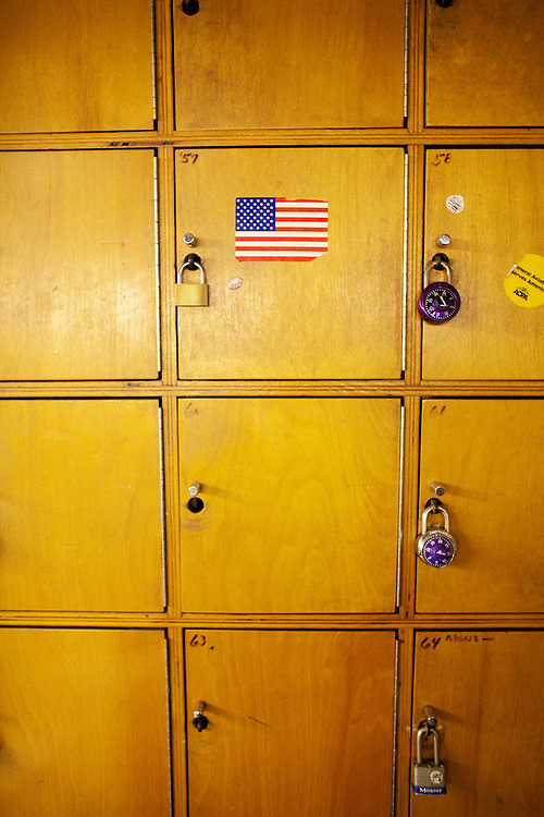 The dancers lockers in the dressing room of the world famous Mons Venus strip club in Tampa, Florida.