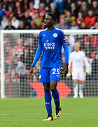Wilfred Ndidi (25) of Leicester City during the Premier League match between Bournemouth and Leicester City at the Vitality Stadium, Bournemouth, England on 30 September 2017. Photo by Graham Hunt.