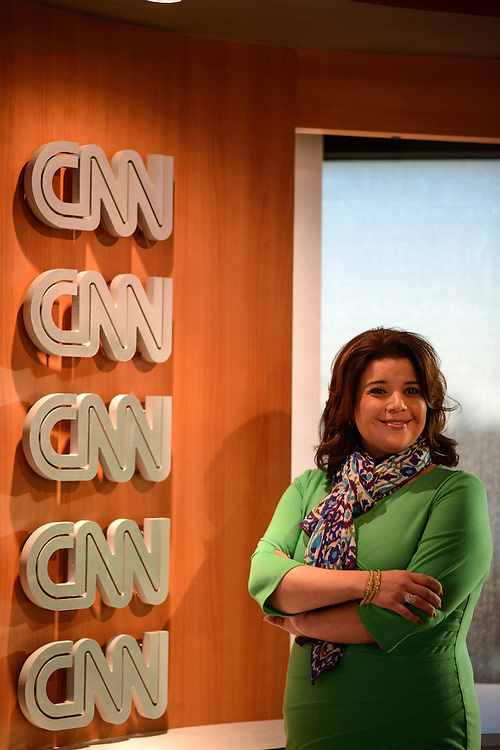Photo by Matt Roth..Conservative Latina CNN pundit Ana Navarro, from Miami, is photographed in the network's Washington D.C. bureau Tuesday, January 22, 2013.