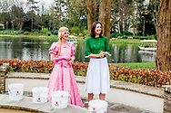 Princess Viktoria de Bourbon de Parma collecting coins from the Wensbron ,Kaatsheuvel, The Netherlands - 01 Apr 2017<br /> KAATSHEUVEL - Prinses Viktoria leegt samen met Assepoester de Wensbron in de Efteling. De prinses is beschermvrouw van Save the Children. Het geld uit de bron gaat naar dit goede doel.  copyright robin utrecht