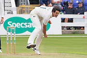 Chris Wright bowling during the Specsavers County Champ Div 2 match between Glamorgan County Cricket Club and Leicestershire County Cricket Club at the SWALEC Stadium, Cardiff, United Kingdom on 16 September 2019.