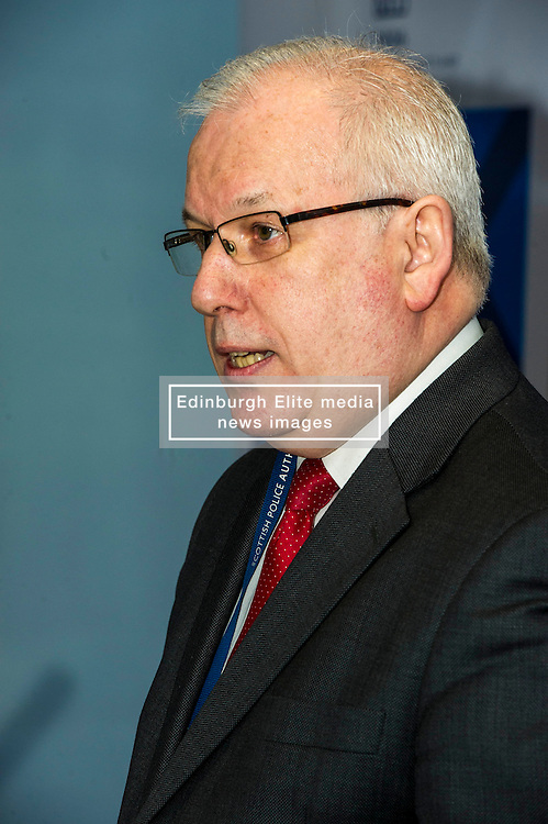 Pictured: Scottish Police Authority (SPA) Chairman Andrew Flanagan<br /> <br /> At Police Scotland HQ at Fettes Row in Edinburgh today , Chief Constable Phil Gormley and Scottish Police Authority (SPA) Chairman Andrew Flanagan launched a long-term strategy for policing and a public consultation to help shape it.  <br /> <br /> Ger Harley | EEm 27 February 2017