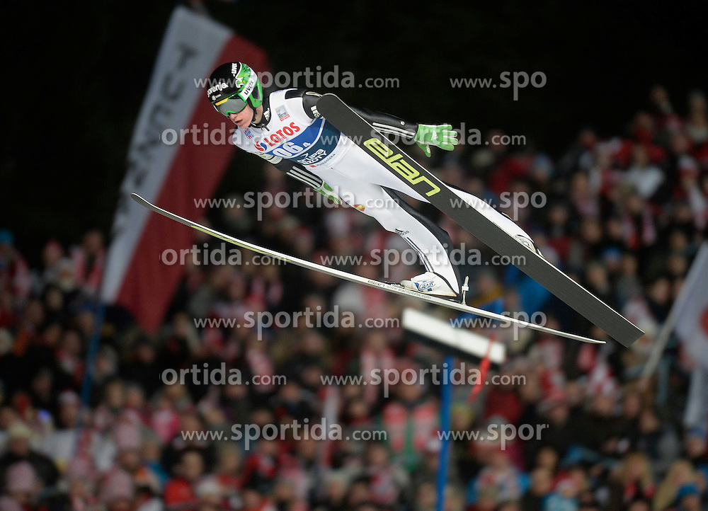 17.01.2015, Wielka Krokiew, Zakopane, POL, FIS Weltcup Ski Sprung, Zakopane, Herren, Teamspringen, im Bild Peter Prevc // during mens Large Hill Team competition of FIS Ski Jumping world cup at the Wielka Krokiew in Zakopane, Poland on 2015/01/17. EXPA Pictures &copy; 2015, PhotoCredit: EXPA/ Newspix/ Irek Dorozanski<br /> <br /> *****ATTENTION - for AUT, SLO, CRO, SRB, BIH, MAZ, TUR, SUI, SWE only*****