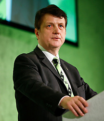 © Licensed to London News Pictures. 19/02/2016. London, UK. GERARD BATTEN MEP speaking at a Grassroots Out rally at the Queen ElizabethII Centre in London as British prime minister David Cameron continues negotiations of UK membership of the EU. Photo credit: Tolga Akmen/LNP