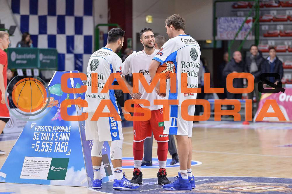 DESCRIZIONE : Campionato 2015/16 Serie A Beko Dinamo Banco di Sardegna Sassari - Grissin Bon Reggio Emilia<br /> GIOCATORE : Brian Sacchetti Pietro Aradori Denis Marconato<br /> CATEGORIA : Fair Play Before Pregame<br /> SQUADRA : Dinamo Banco di Sardegna Sassari<br /> EVENTO : LegaBasket Serie A Beko 2015/2016<br /> GARA : Dinamo Banco di Sardegna Sassari - Grissin Bon Reggio Emilia<br /> DATA : 23/12/2015<br /> SPORT : Pallacanestro <br /> AUTORE : Agenzia Ciamillo-Castoria/L.Canu