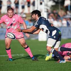 Vincent FARRE of Agen during the Top 14 match between Agen and Stade Francais on October 19, 2019 in Agen, France. (Photo by Julien Crosnier/Icon Sport) - Vincent FARRE - Stade Armandie - Agen (France)