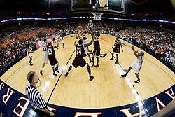 The Virginia Cavaliers men's basketball team fell to the Virginia Tech Hokies 70-69 in overtime at the John Paul Jones Arena in Charlottesville, VA on January 16, 2008.