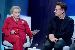 Madeleine Albright and Bono at The Business And Political Leaders Attend Clinton Global Initiative Annual Meeting in New York, September 19th 2016.