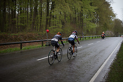 With one lap to go, Carmen Small (USA) of Cervélo-Bigla Cycling Team digs deep during the first, 106.9km road race stage of Elsy Jacobs - a stage race in Luxembourg, in Steinfort on April 30, 2016