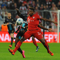 04.11.2015, Allianz Arena, Muenchen, GER, UEFA CL, FC Bayern Muenchen vs FC Arsenal, Gruppe F, im Bild David Alaba (FC Bayern Muenchen) // during the UEFA Champions League group F match between FC Bayern Munich and FC Arsenal at the Allianz Arena in Muenchen, Germany on 2015/11/04. EXPA Pictures © 2015, PhotoCredit: EXPA/ Eibner-Pressefoto/ Stuetzle<br /> <br /> *****ATTENTION - OUT of GER*****