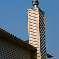 House chimney, Plainfield, Illinois, USA