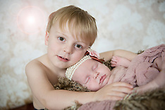 Baby Milly and big brother Mason