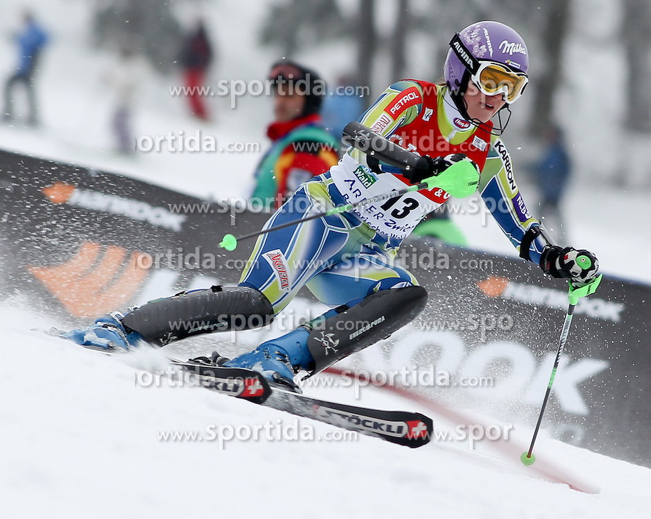 04.02.2011, Arber Zwiesel, GER, FIS World Cup Ski Alpin, Lady, Slalom, im Bild Tina Maze (SLO, #13) // Tina Maze (SLO) // during FIS Ski Worldcup ladies Slalom at Arber Zwiesel, Germany on 04/02/2011. EXPA Pictures © 2011, PhotoCredit: EXPA/ R. Hackl