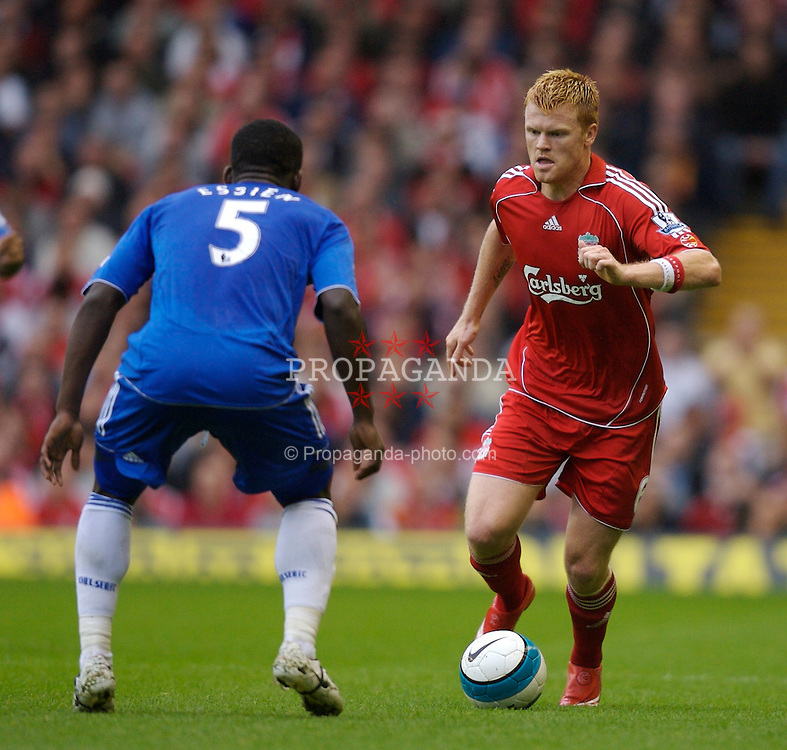 Liverpool, England - Sunday, August 19, 2007: Liverpool's John Arne Riise in action against Chelsea during the Premiership match at Anfield. (Photo by David Rawcliffe/Propaganda)