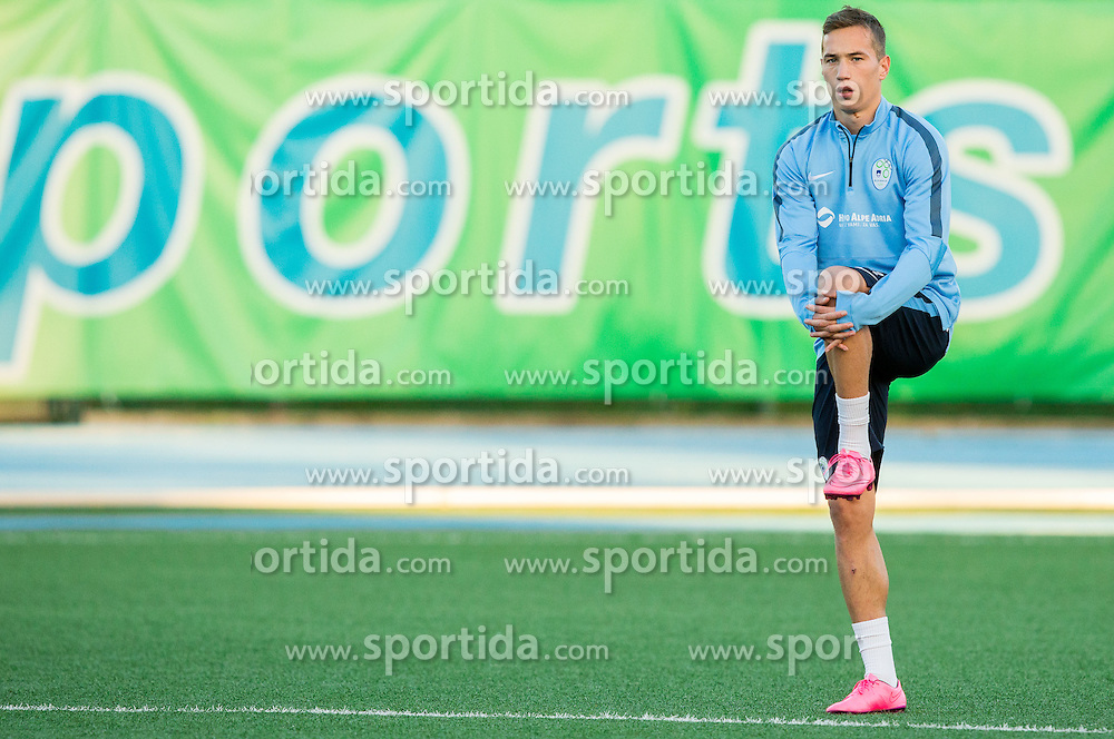 Dejan Trajkovski during the practice session of Team Slovenia 1 day before EURO 2016 Qualifier Group E match between Slovenia and San Marino, on October 11, 2015 in Riccione, Italy. Photo by Vid Ponikvar / Sportida