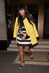 TV presenter Jameela Jamil leaving Kensington Roof Gardens in London, UK. 01/07/2014<br />