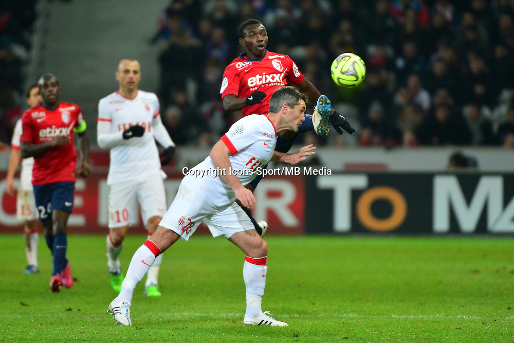 Adama TRAORE / Jeremy TOULALAN  - 24.01.2015 - Lille / Monaco - 22eme journee de Ligue1<br />Photo : Dave Winter / Icon Sport