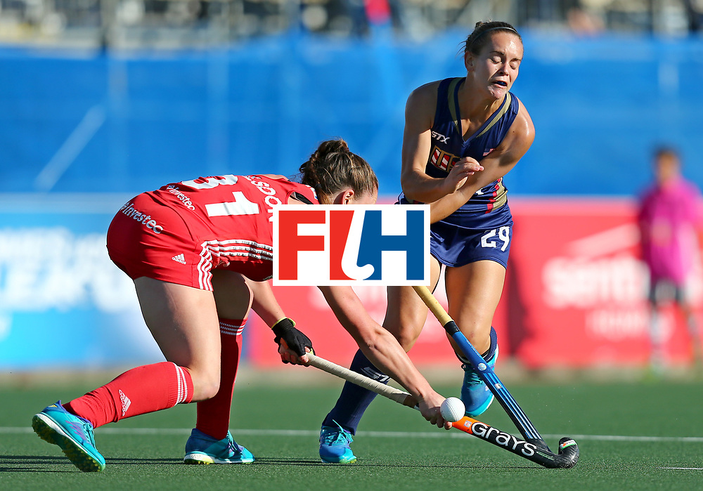 New Zealand, Auckland - 23/11/17  <br /> Sentinel Homes Women&rsquo;s Hockey World League Final<br /> Harbour Hockey Stadium<br /> Copyrigth: Worldsportpics, Rodrigo Jaramillo<br /> Match ID: 10305 - USA vs ENG<br /> Photo: (29) MANLEY Alyssa crash against (31) BALSDON Grace