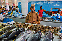 Sultanat d'Oman, Mascate, vieux Mascate, corniche de Mutrah, le marché aux poissons // Sultanate of Oman, Muscat, the corniche of Muttrah, the old town of Muscat, fish market