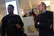 Awudu Abass, Roberto Brunamonti<br /> Nazionale Italiana Maschile Senior - Arrivo al Ritiro di Torino<br /> FIP 2017<br /> Torino, 20/11/2017<br /> Foto M.Ceretti / Ciamillo-Castoria