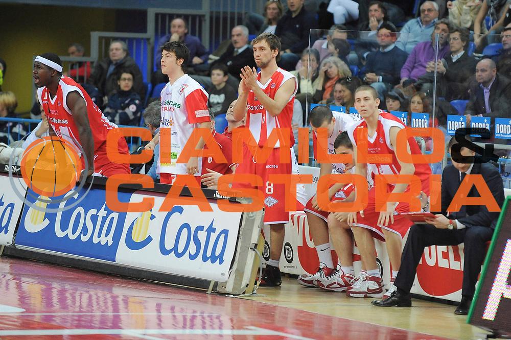 DESCRIZIONE : Pesaro Lega A 2008-09 Scavolini Spar Pesaro Bancatercas Teramo<br /> GIOCATORE : Team Bancatercas Teramo<br /> SQUADRA : Bancatercas Teramo<br /> EVENTO : Campionato Lega A 2008-2009<br /> GARA : Scavolini Spar Pesaro Bancatercas Teramo<br /> DATA : 22/03/2009<br /> CATEGORIA : Esultanza<br /> SPORT : Pallacanestro<br /> AUTORE : Agenzia Ciamillo-Castoria/G. Ciamillo